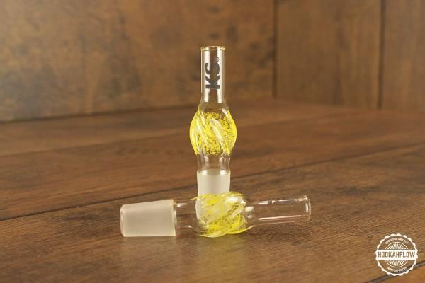 KS Glasschlauchanschluss mit Schliff Minea yellow.jpg